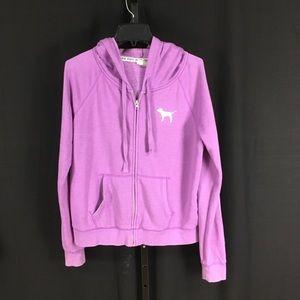 Victoria Secret Pink Lilac purple hoodie jacket lg